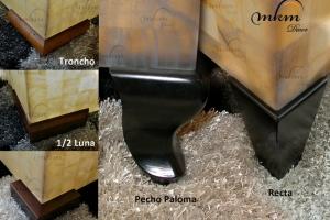 Detalle patas para mesa onix