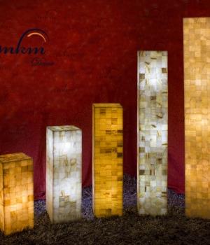 Columnas cuadradas de Onix en varios tamaños - Solicite información sobre la medida que desee. Iluminación bajo consumo incluida