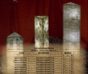 Listado de tamaños disponibles - Solicite información si necesita otra medida. Iluminación bajo consumo incluida