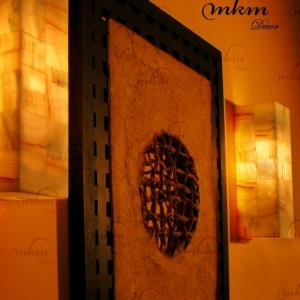 Apliques rectangulares Onix - Dimensiones: 10 x 10 x 35 cm - Solicite información sobre la medida que desee. Iluminación bajo consumo incluida