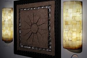 Apliques cilíndricos de Onix - Dimensiones: 30 x 60 cm - Solicite información sobre la medida que desee. Iluminación bajo consumo incluida