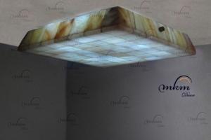 Plafón inclinado de Onix - Dimensiones: 35 x 35 x 6 cm - Solicite información sobre la medida que desee. Iluminación bajo consumo incluida