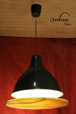 Lámpara redonda de Onix - Dimensiones: 58 cm - Solicite información sobre la medida que desee. Iluminación bajo consumo incluida