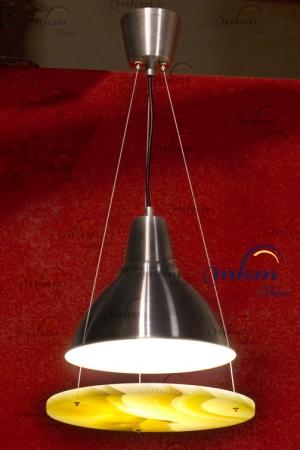 Lámpara redonda de Onix - Dimensiones: 29 cm - Solicite información sobre la medida que desee. Iluminación bajo consumo incluida