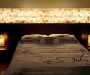 Cabecero de Onix - Dimensiones: 280 x 40 x 5 cm - Solicite información sobre la medida que desee. Iluminación bajo consumo incluida