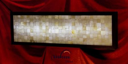 Cabecero de onix con marco - Dimensiones: 157 x 47 x 12 cm - Solicite información sobre la medida que desee. Iluminación bajo consumo incluida