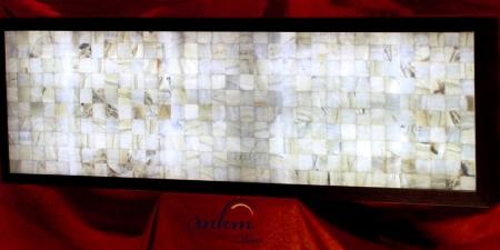 Cabecero de onix con marco - Dimensiones: 192 x 57 x 12 cm - Solicite información sobre la medida que desee. Iluminación bajo consumo incluida