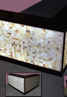 Proyecto de barra en onix para domicilio partícular -  Solicite información sobre la medida que desee. Iluminación bajo consumo incluida