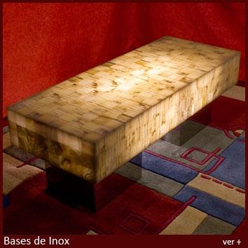 Mesas bases inox