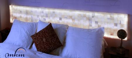 Cabecero de Onix - Dimensiones: 240 x 40 x 5 cm - Solicite información sobre la medida que desee. Iluminación LED incluida